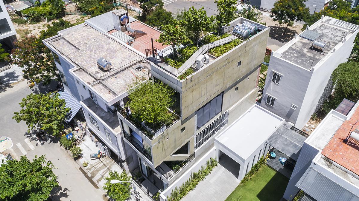 0401 - The Concrete House 01 / Ho Khue Architects: Ngôi nhà 4 tầng với diện tích lô 5m x 16m