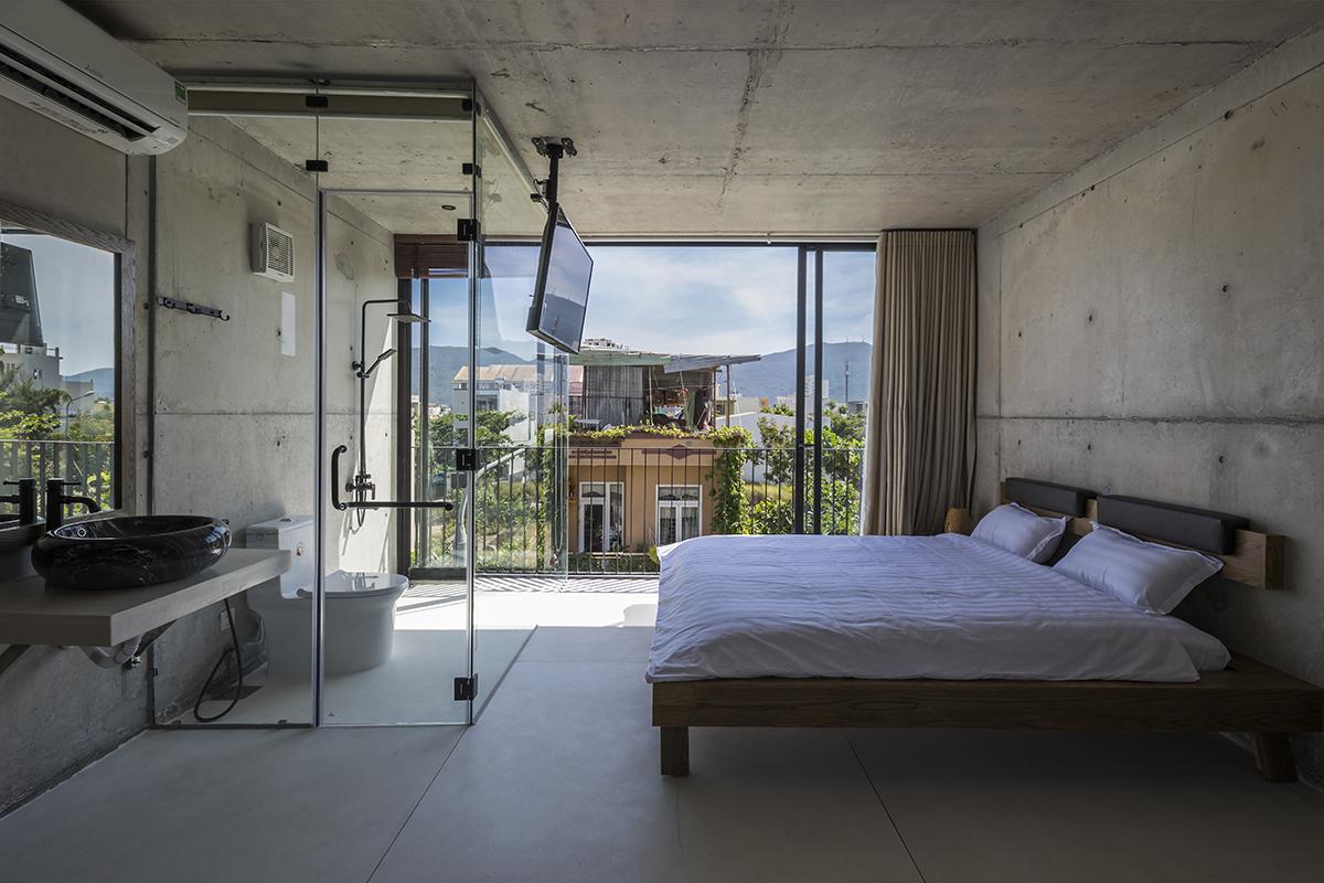0476 - The Concrete House 01 / Ho Khue Architects: Ngôi nhà 4 tầng với diện tích lô 5m x 16m