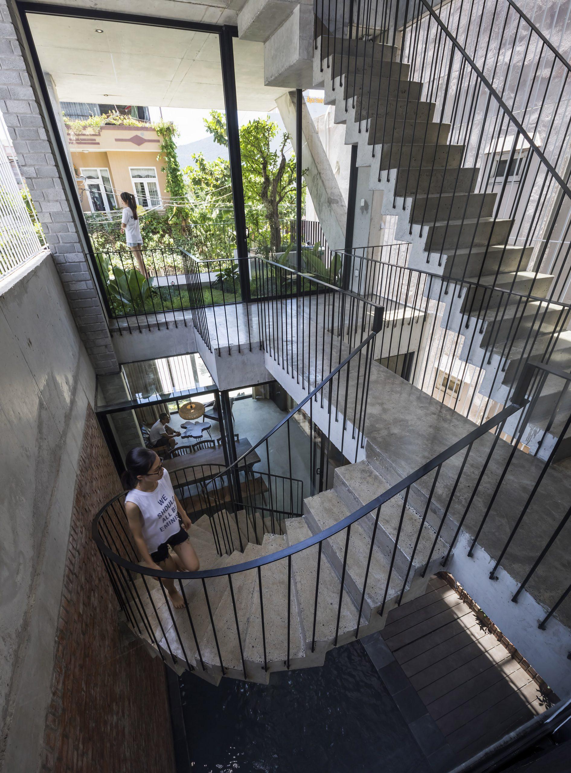 0628 scaled - The Concrete House 01 / Ho Khue Architects: Ngôi nhà 4 tầng với diện tích lô 5m x 16m