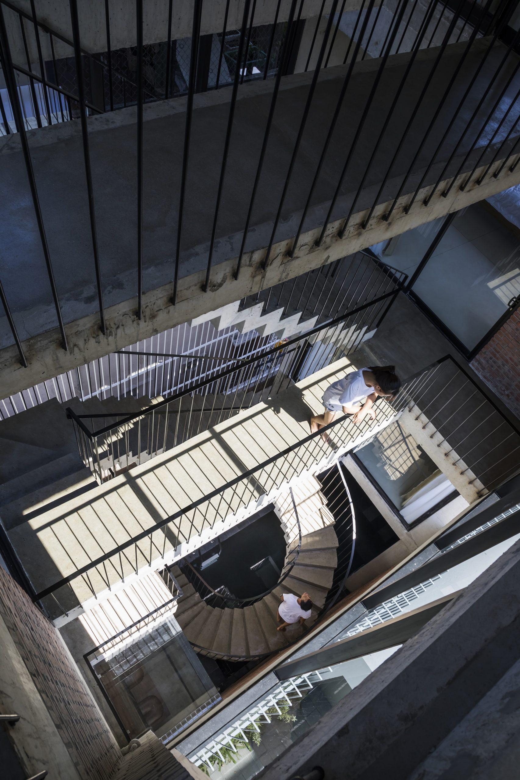 0804 scaled - The Concrete House 01 / Ho Khue Architects: Ngôi nhà 4 tầng với diện tích lô 5m x 16m