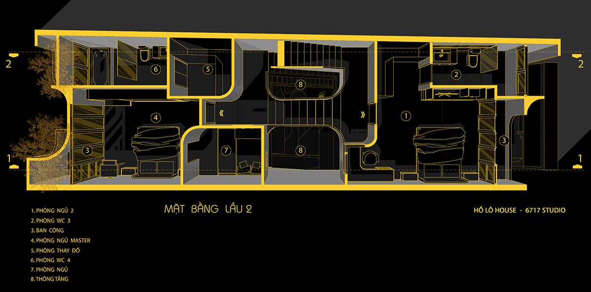 Hồ Lô house - Vũ điệu của những đường cong | 6717 Studio