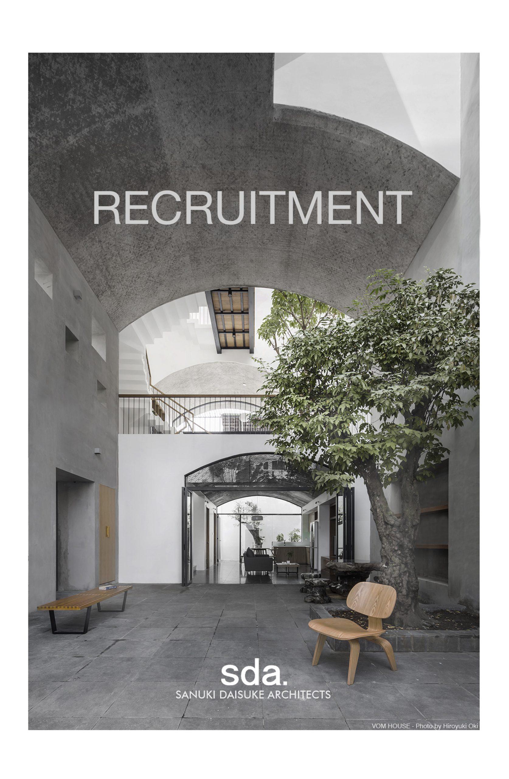 Sanuki Daisuke Architects tuyển dụng KTS 2020