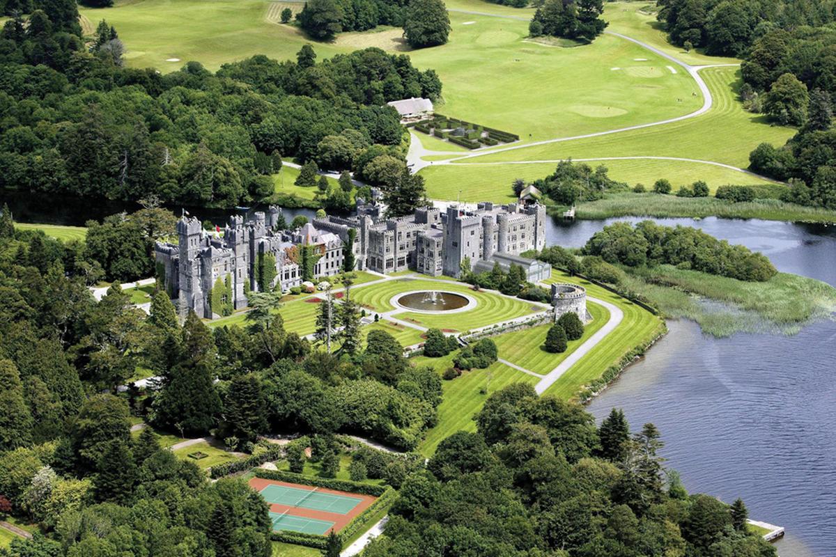 vườn, lâu đài