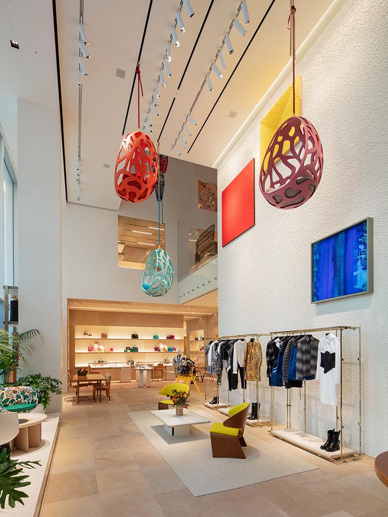 Louis Vuitton, Frank Gehry, thiết kế cửa hàng thời trang