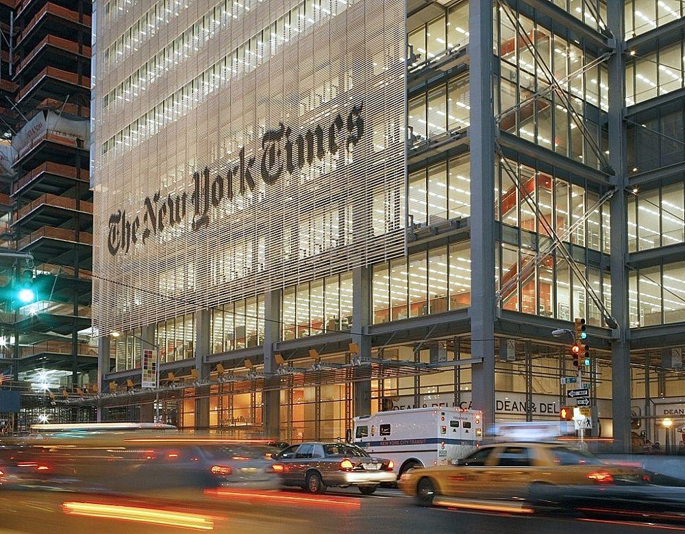 Tòa soạn The New York Times tại Manhattan