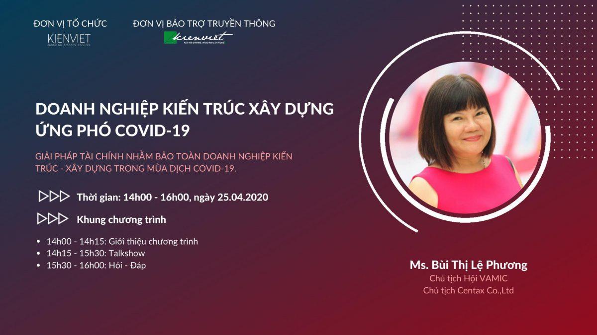 Talkshow cùng Chuyên gia TS. Bùi Thị Lệ Phương về giải pháp tài chính cho doanh nghiệp trong dịch Covid-19