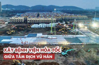 Hai bệnh viện dã chiến được Trung Quốc xây thế nào
