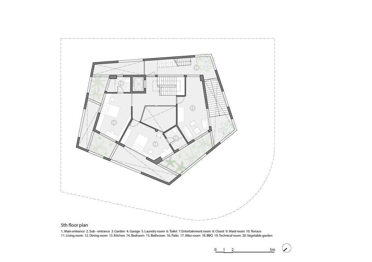 Hạ Long Villa: Biệt thự xanh bên vịnh Hạ Long/ VTN Architects