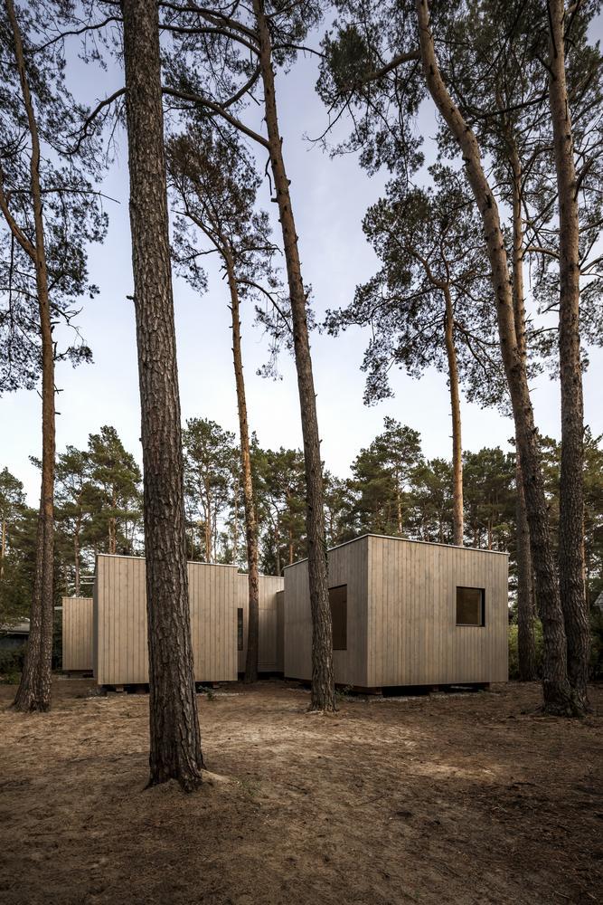 Koeris House - Những chiếc hộp bí ẩn giữa rừng thông | Zeller & Moye