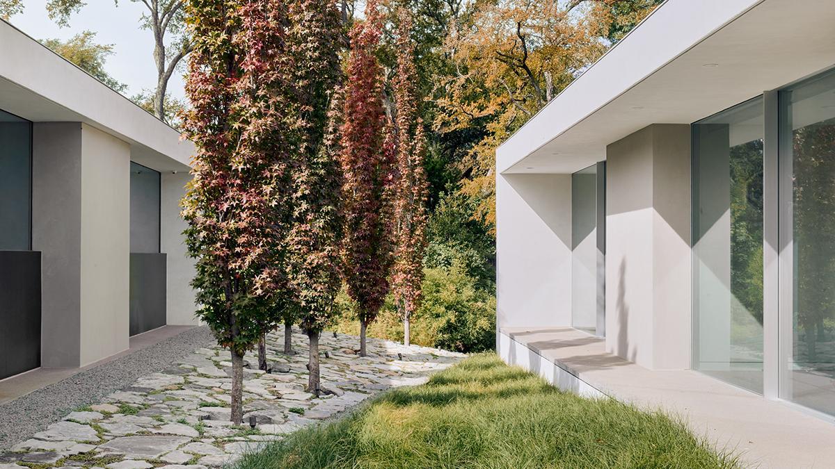 Ngôi nhà Preston Hollow được tạo thành từ ba khối bê tông đúc - thiết kế bởi Specht Architects