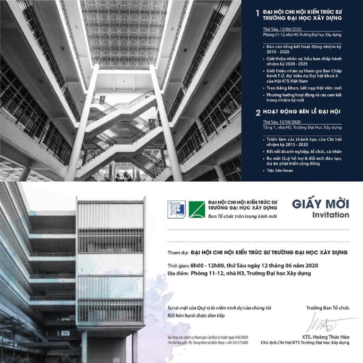 Chi hội Kiến trúc sư Đại học Xây dựng tổ chức Đại hội nhiệm kỳ 2020 - 2025