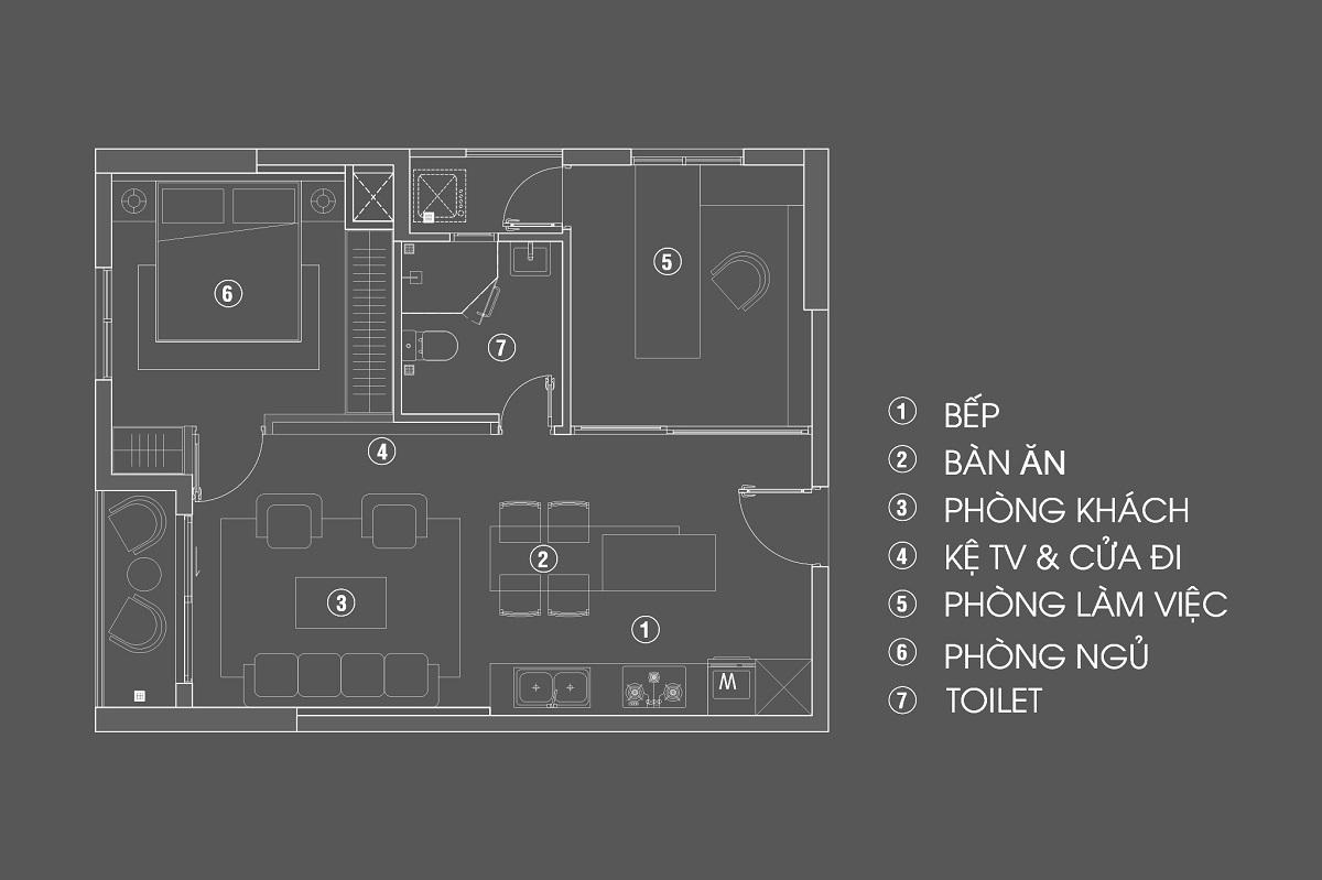 Căn hộ 60m2 Masteri Nam Sài Gòn – Trò chơi của Tổ hợp không gian | TQH Architects