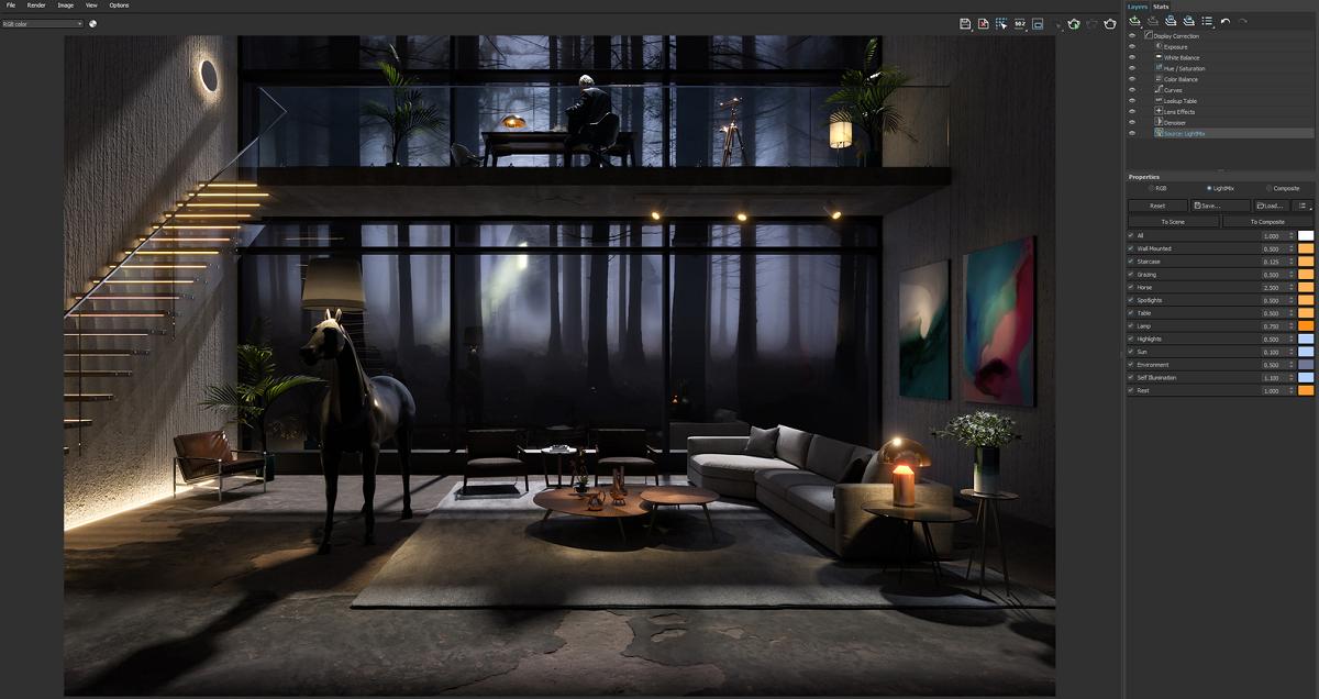Chế độ Light Mix trong V-ray 5 giúp các nhà thiết kế hiện thực hóa kiến trúc