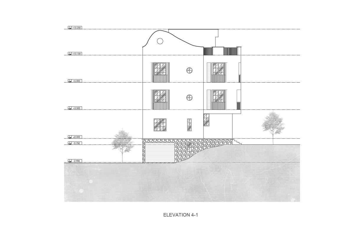 Ngôi nhà với những đường cong uốn lượn vững chãi | Kaa Architects