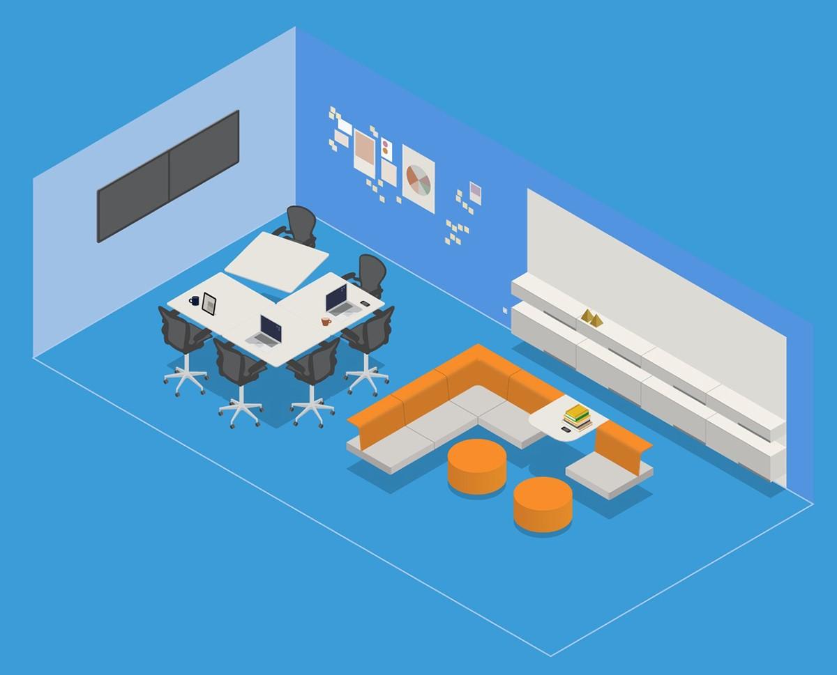 6 phương án bố trí nội thất văn phòng hiệu quả và linh hoạt