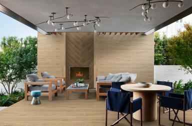 Nâng niu cảm xúc với ứng dụng linh hoạt của gạch gỗ tại các biệt thự ven đô