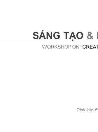 """Workshop """"Tư duy sáng tạo & Khởi nghiệp"""""""