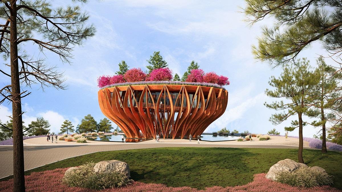 """Độc đáo tòa tháp """"nở"""" từ mây   VNH Architects"""