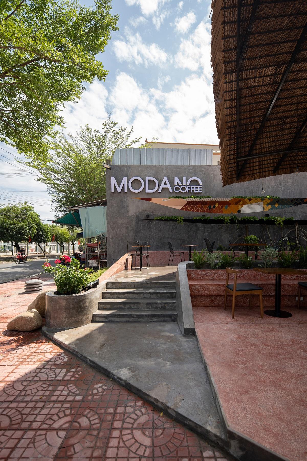 """MODANO coffee - Độc đáo quán cà phê với mái """"lơ lửng"""" trên khung thép mảnh I AD+studio"""