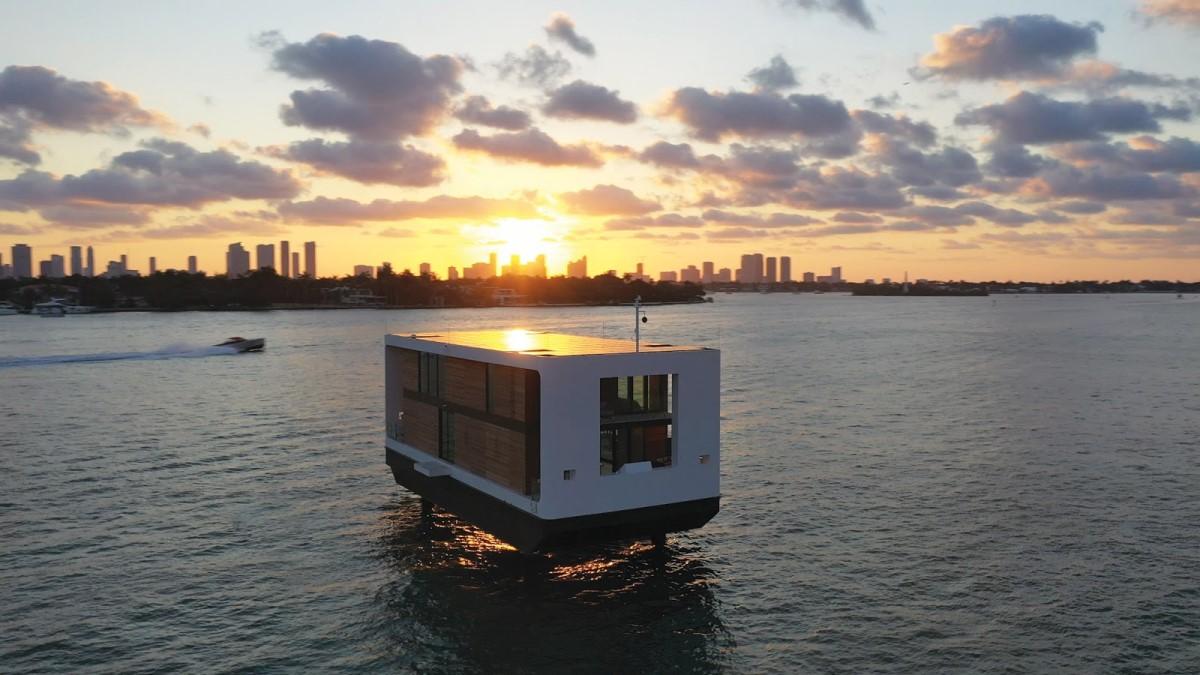 Biệt thự du thuyền nổi trên mặt nước   Waterstudio.NL