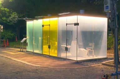 Nhà vệ sinh trong suốt chống biến thái tại Nhật Bản