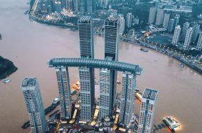 Crystal - tòa cao ốc nằm ngang cao nhất thế giới vừa được khánh thành tại Trùng Khánh, Trung Quốc