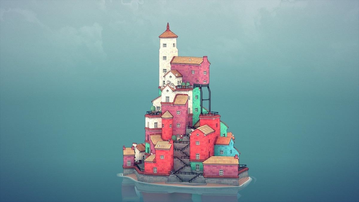 Trò chơi kiến trúc Townscaper cho phép người chơi sáng tạo thị trấn của riêng mình