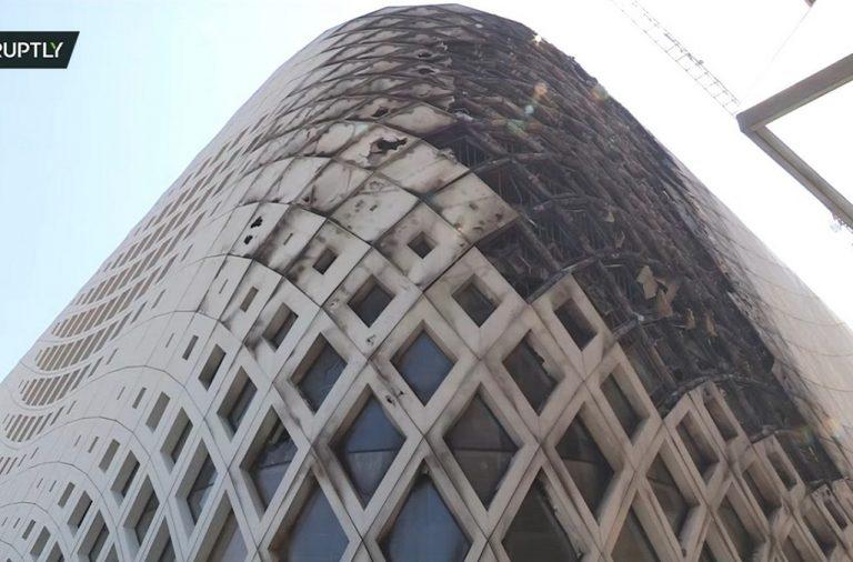Công trình của KTS Zaha Hadid đang thi công bất ngờ bốc cháy dữ dội
