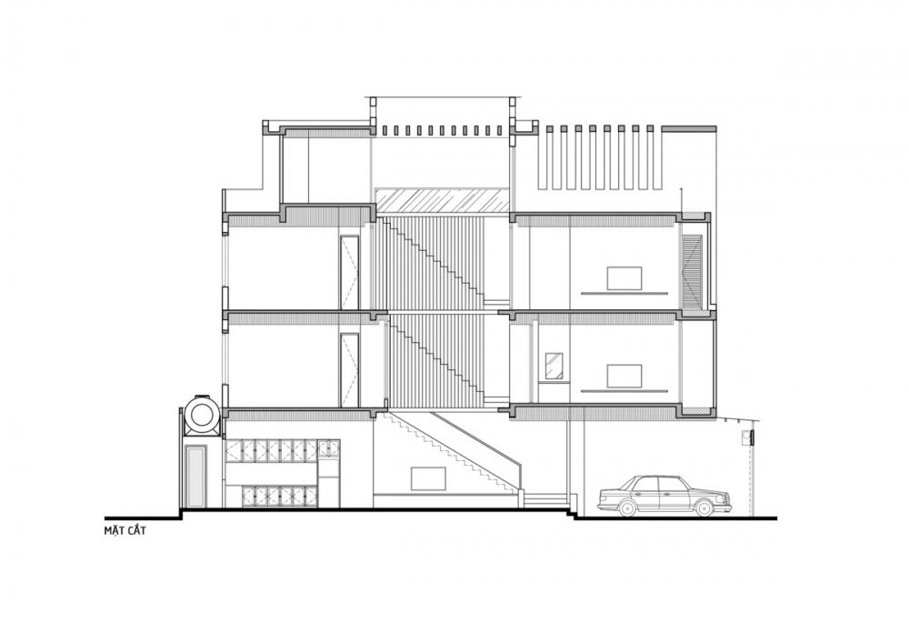 43 1000x1000 - Nhà trong thành phố - Giải pháp cho không gian sống với nhiều thành viên | Story Architecture