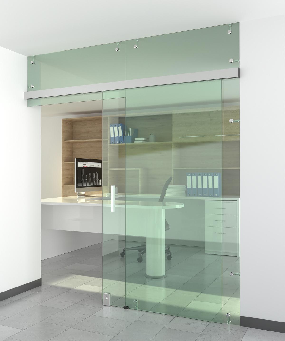 Hệ phụ kiện giảm chấn cho cửa kính lùa văn phòng