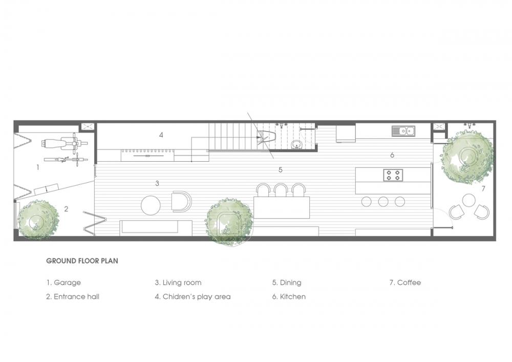 0.GROUND FLOOR PLAN 1000x2000 - NGỌC House - Chất keo gắn kết gia đình đa hệ  Story Architecture