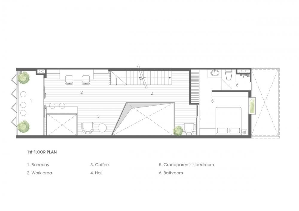 1.1ST FLOOR PLAN 1000x2000 - NGỌC House - Chất keo gắn kết gia đình đa hệ  Story Architecture