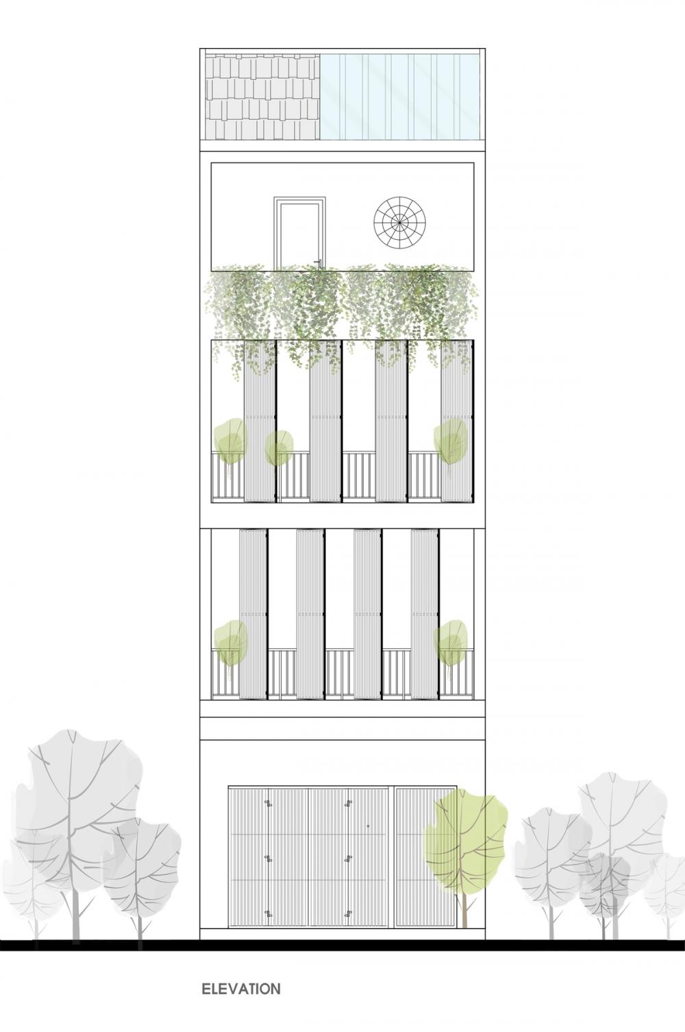 ELEVATION 1000x2000 - NGỌC House - Chất keo gắn kết gia đình đa hệ  Story Architecture