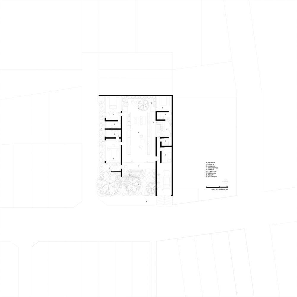 GROUND PLAN 01 1000x1000 - Nhà Huy - Ốc đảo xanh ẩn mình giữa phố thị   23o5 Studio