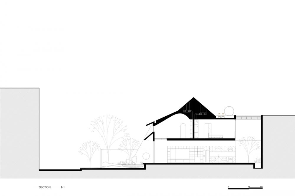 SECTION 1000x1000 - Nhà Huy - Ốc đảo xanh ẩn mình giữa phố thị   23o5 Studio