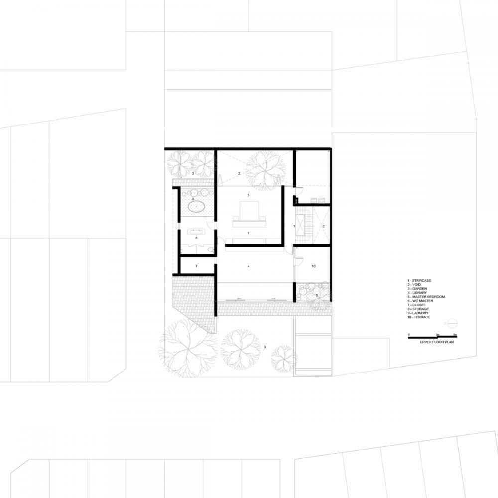 UPPER PLAN 1000x1000 - Nhà Huy - Ốc đảo xanh ẩn mình giữa phố thị   23o5 Studio