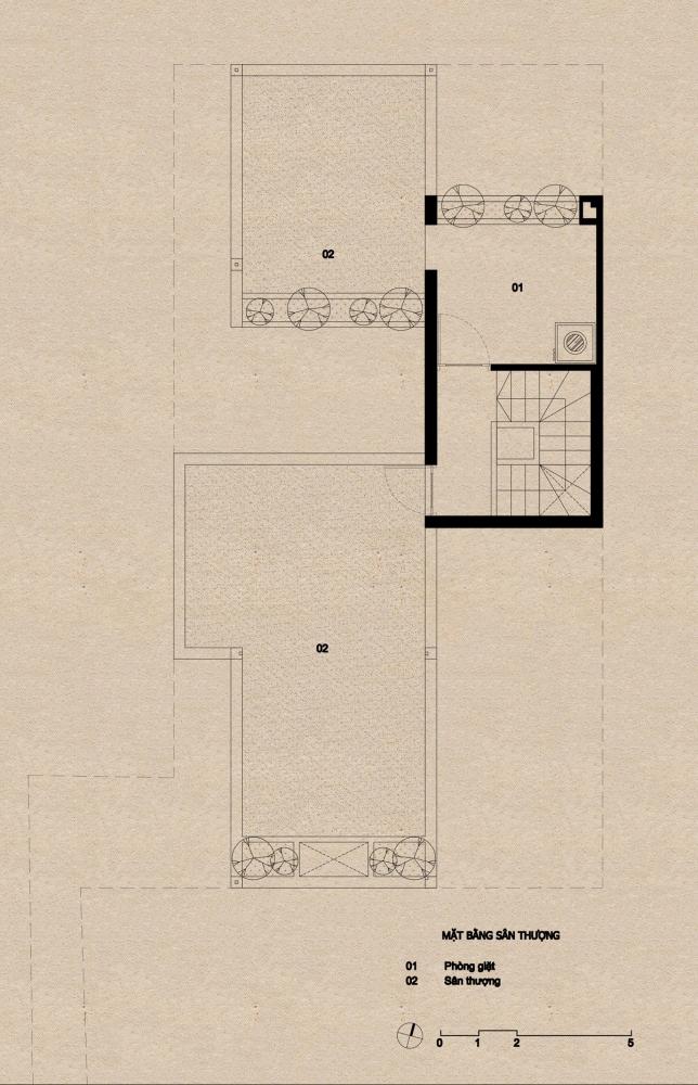 sân thượng 1000x1000 - Nhà Mệ Loan - Khoảng trời đón nắng trong ngõ nhỏ   H-H Studio