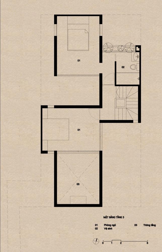 tầng 3 1000x1000 - Nhà Mệ Loan - Khoảng trời đón nắng trong ngõ nhỏ   H-H Studio