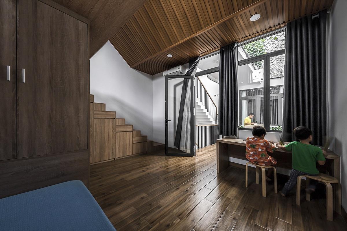 kienviet nha mai huong anh sang tu nhien trong long thanh pho story architecture 17 1 - Nhà Mai Hương - thông tầng không gian đón sáng tự nhiên
