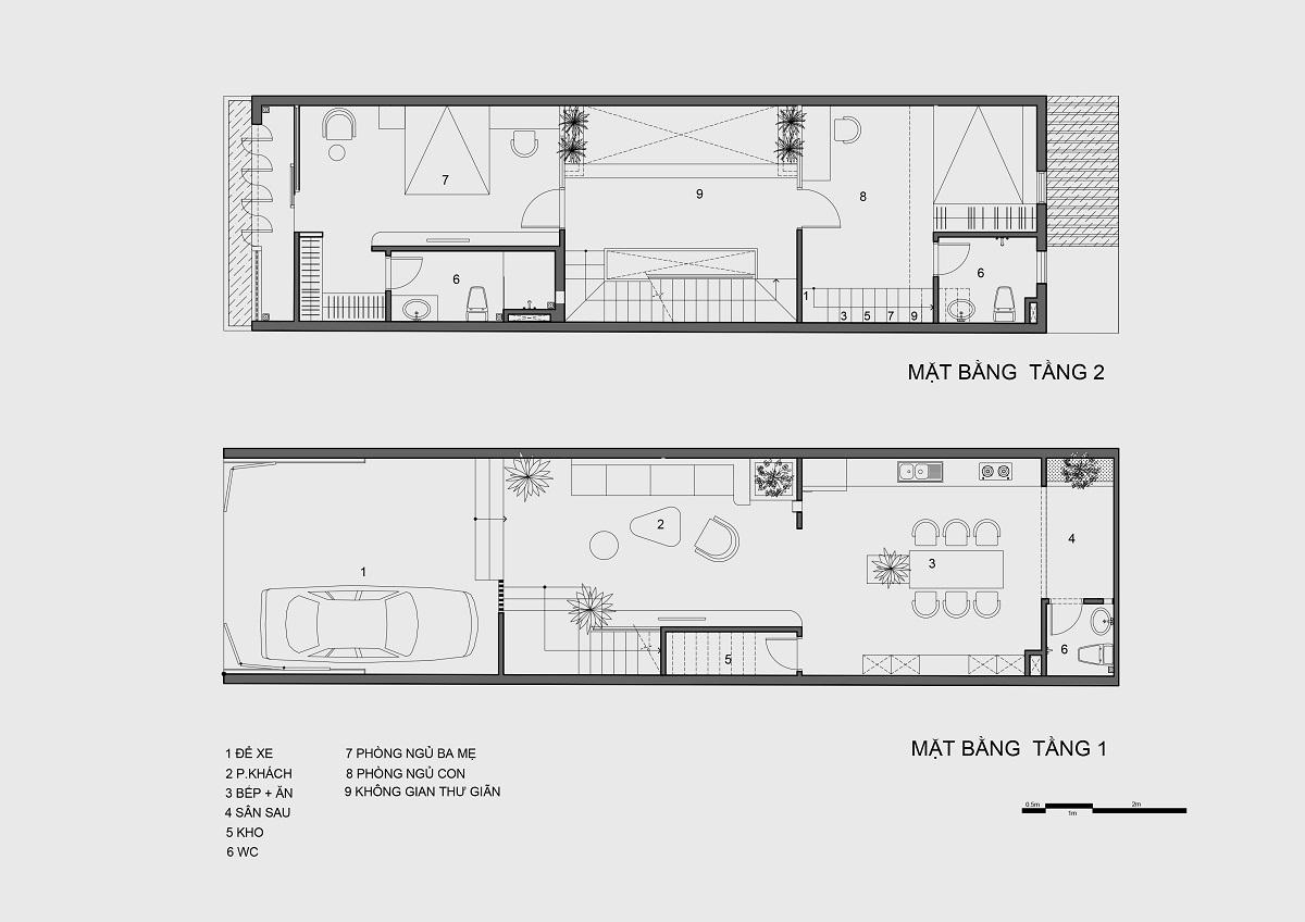kienviet nha mai huong anh sang tu nhien trong long thanh pho story architecture 29 - Nhà Mai Hương - thông tầng không gian đón sáng tự nhiên